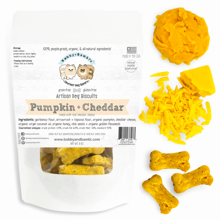Bobby & Bambi | Pumpkin and Cheddar Biscuits 6oz