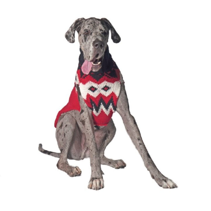 Chilly Dog - Sweater Red Fairisle