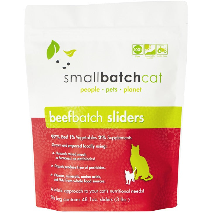Small Batch | Frozen Beef Batch Cat Food (Local Delivery ONLY - Will Not Ship)