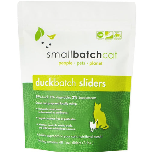 Small Batch | Frozen Duck Batch Cat Food (Local Delivery ONLY - Will Not Ship)