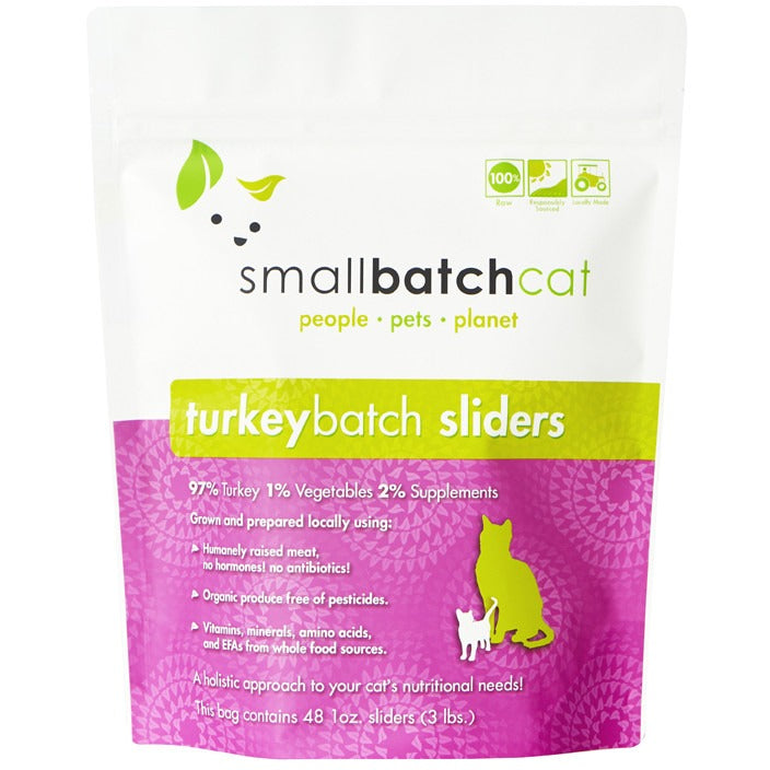 Small Batch | Frozen Turkey Batch Cat Food (Local Delivery ONLY - Will Not Ship)