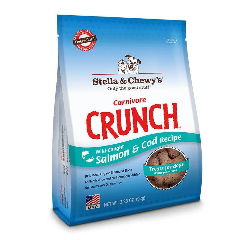 Stella & Chewy's® | Carnivore Crunch® Salmon & Cod Recipe Freeze-Dried Dog Treat - 3.25 oz