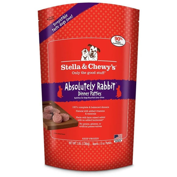 Stella & Chewy's® | Absolutely Rabbit™ Frozen Raw Patties (Local Delivery ONLY - Will Not Ship)