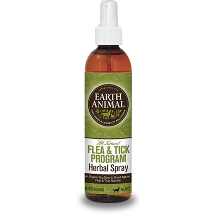 Earth Animal | Herbal Flea & Tick Spray for Dogs 8 oz