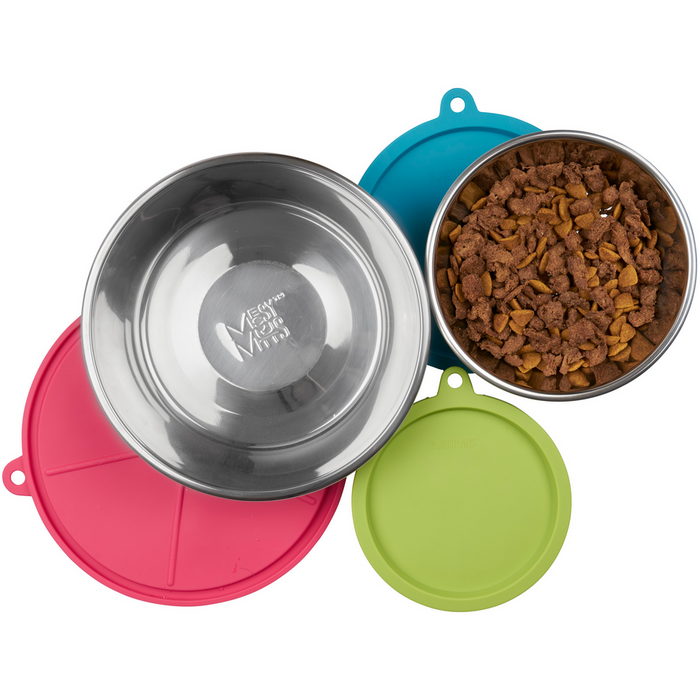 Messy Mutts™ | Stainless Bowl and Silicone Lid Box Set