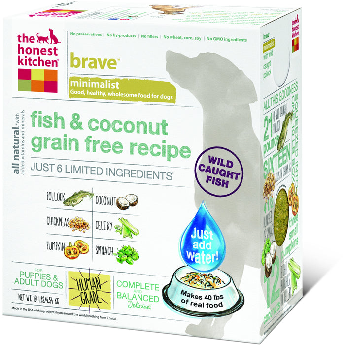 The Honest Kitchen | Brave™ Grain-Free Fish & Coconut Dehydrated Dog Food