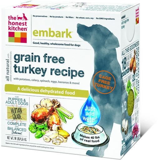 The Honest Kitchen | Embark® Grain-Free Turkey Dehydrated Dog Food