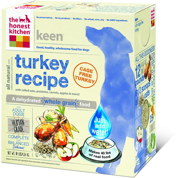 The Honest Kitchen | Keen® Whole Grain Turkey Dehydrated Dog Food