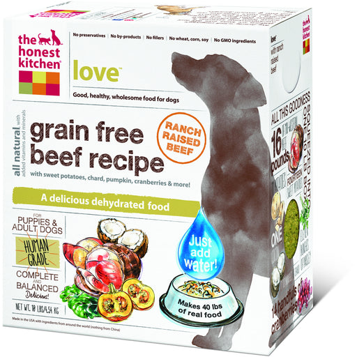 The Honest Kitchen | Love™ Grain-Free Beef Dehydrated Dog Food
