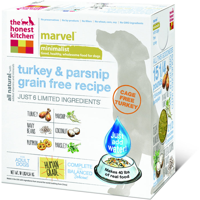 The Honest Kitchen | Marvel™ Grain-Free Turkey & Parsnip Dehydrated Dog Food