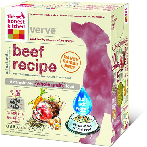 The Honest Kitchen | Verve® Whole Grain Beef Dehydrated Dog Food
