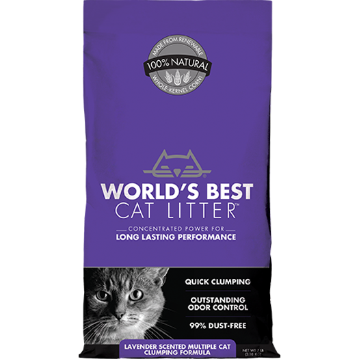 World's Best Cat Litter™ | Lavender Scented Multiple Cat Clumping Formula