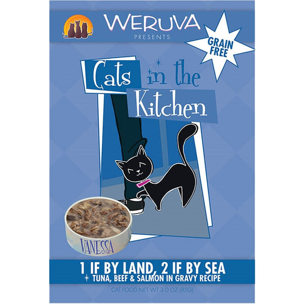 Weruva | Cats In The Kitchen - 1 If By Land, 2 If By Sea - 3 oz Pouch