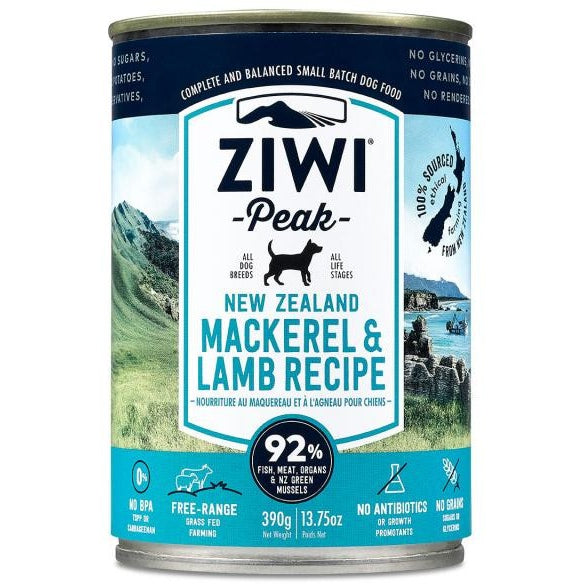 Ziwi® Peak | Moist Mackerel & Lamb Canned Dog Food - 13.75 oz