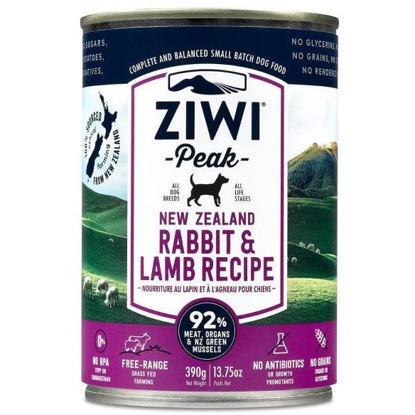 Ziwi® Peak | Moist Rabbit & Lamb Canned Dog Food - 13.75 oz