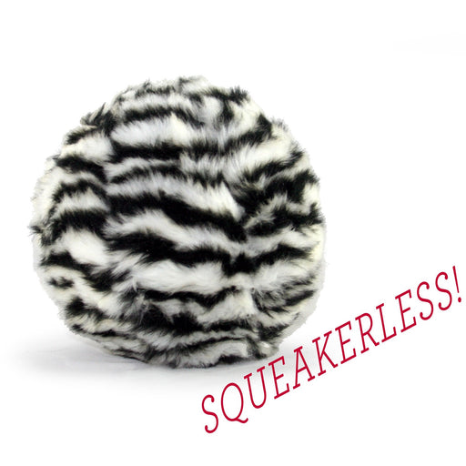Fluff & Tuff® Dog Toy | Zebra Ball (Squeakerless)