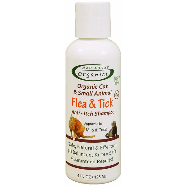 Mad About Organics | Flea & Tick Shampoo for Cats and Small Animals