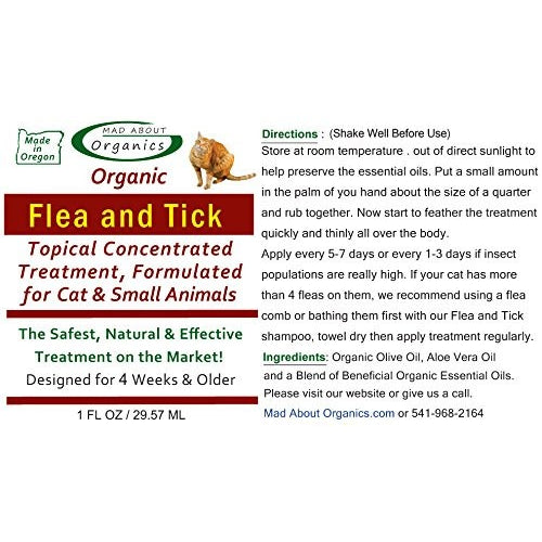 Mad About Organics | Flea & Tick Topical Treatment for Cats and Small Animals
