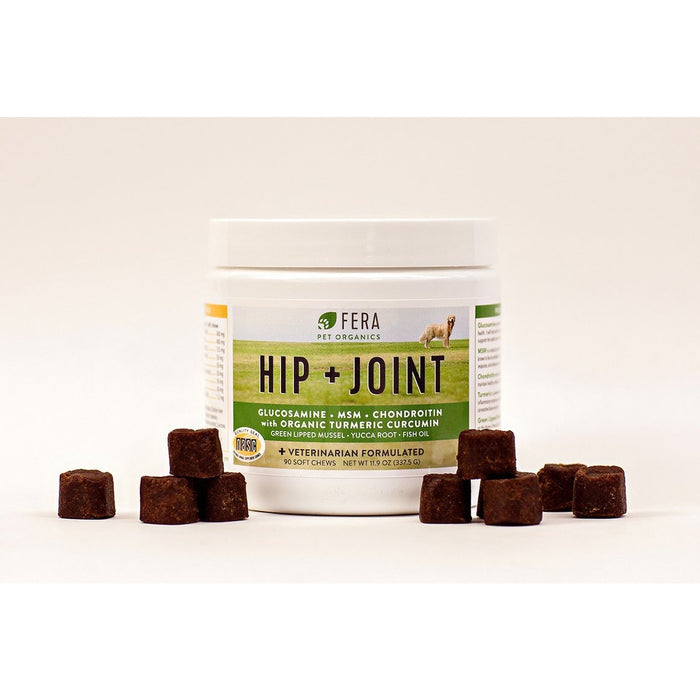 Fera Pet Organics | Hip + Joint Soft Chews for Dogs