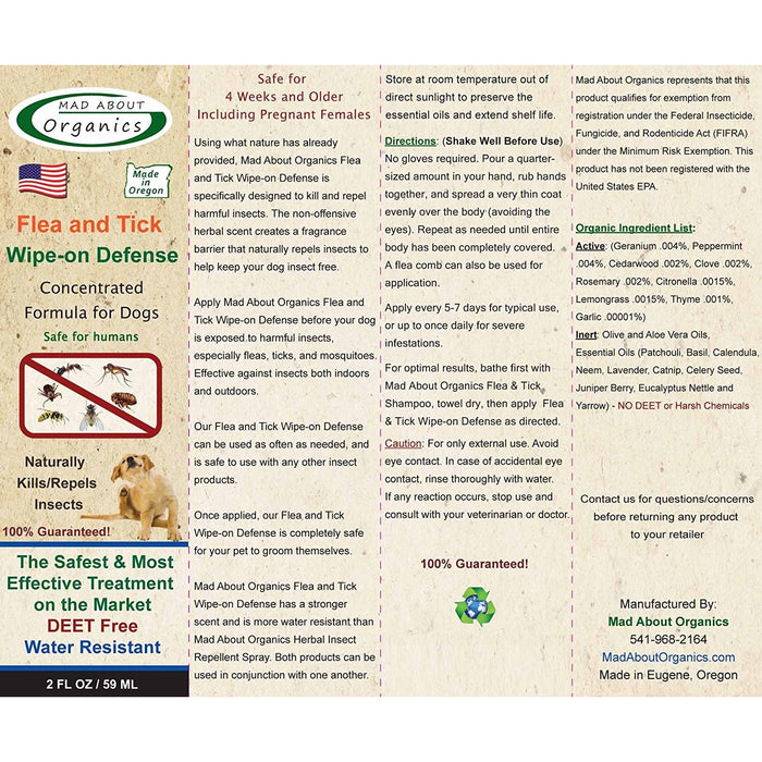 Mad About Organics | Flea & Tick Topical Treatment for Dogs