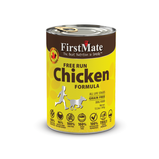 First Mate | Free Run Chicken Canned Dog Food 12.2oz