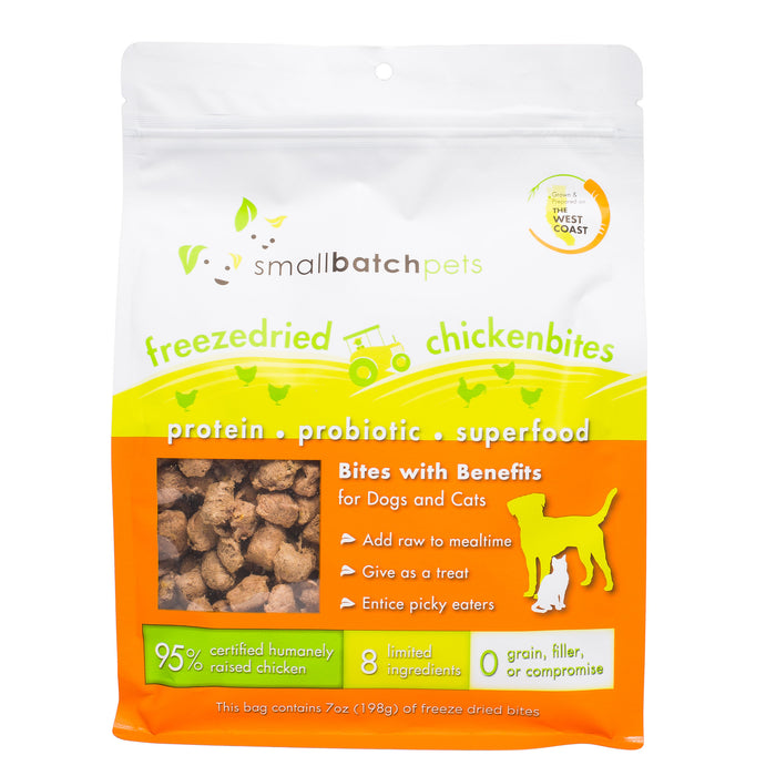 Small Batch | Freeze-Dried Bites for Dogs & Cats - Chicken 7oz