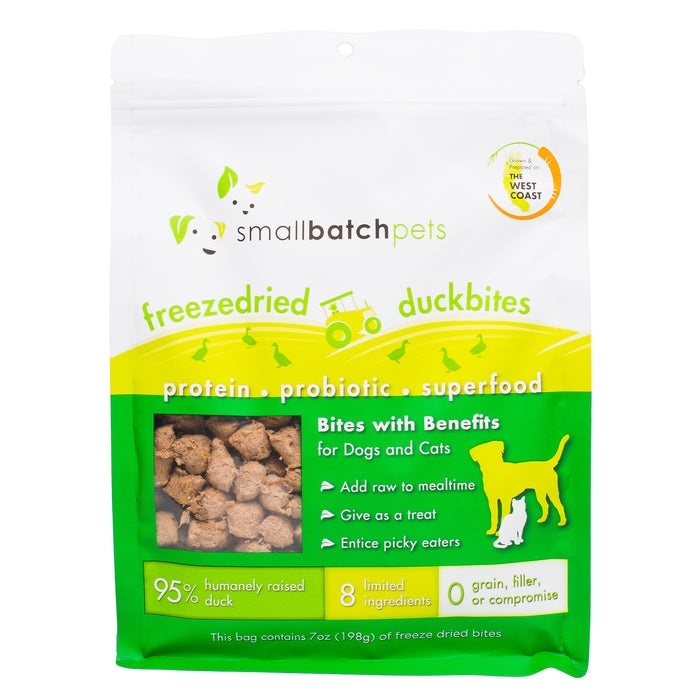 Small Batch | Freeze-Dried Bites for Dogs & Cats - Duck 7oz