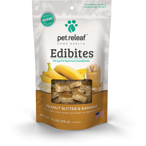 Pet Releaf | Peanut Butter Banana CBD Hemp Oil Edibites