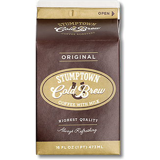 Stumptown | Cold Brew Coffee with Milk - Original Carton 16 oz (Local Delivery ONLY - Will Not Ship)