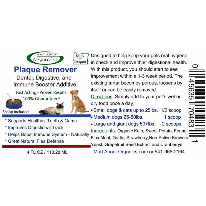 Mad About Organics | Organic Plaque Remover Dental and Digestion Food Additive