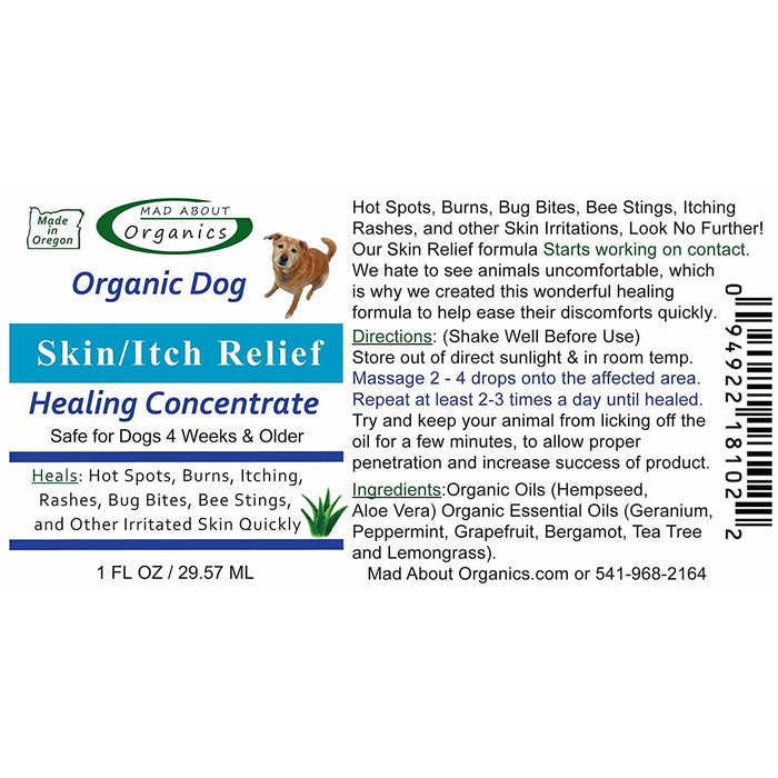Mad About Organics | Skin / Itch Relief Healing Treatment for Dogs