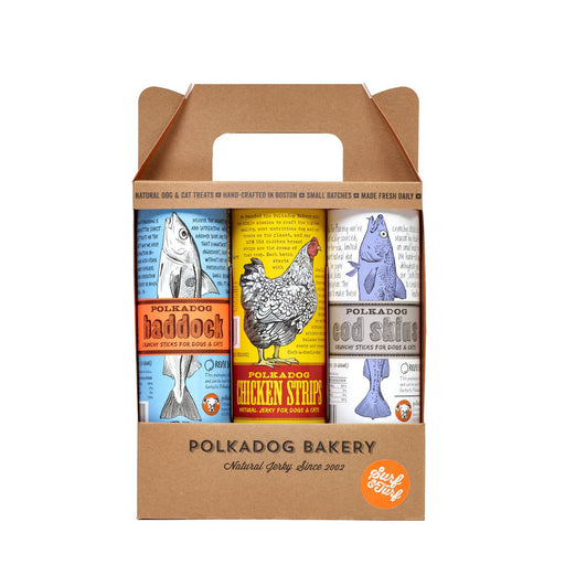 Polka Dog | 3-Pack Surf & Turf Dog Treats