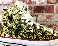 Custom Designed Converse by Relentless Featuring Levi Sherwood for Cure Kids