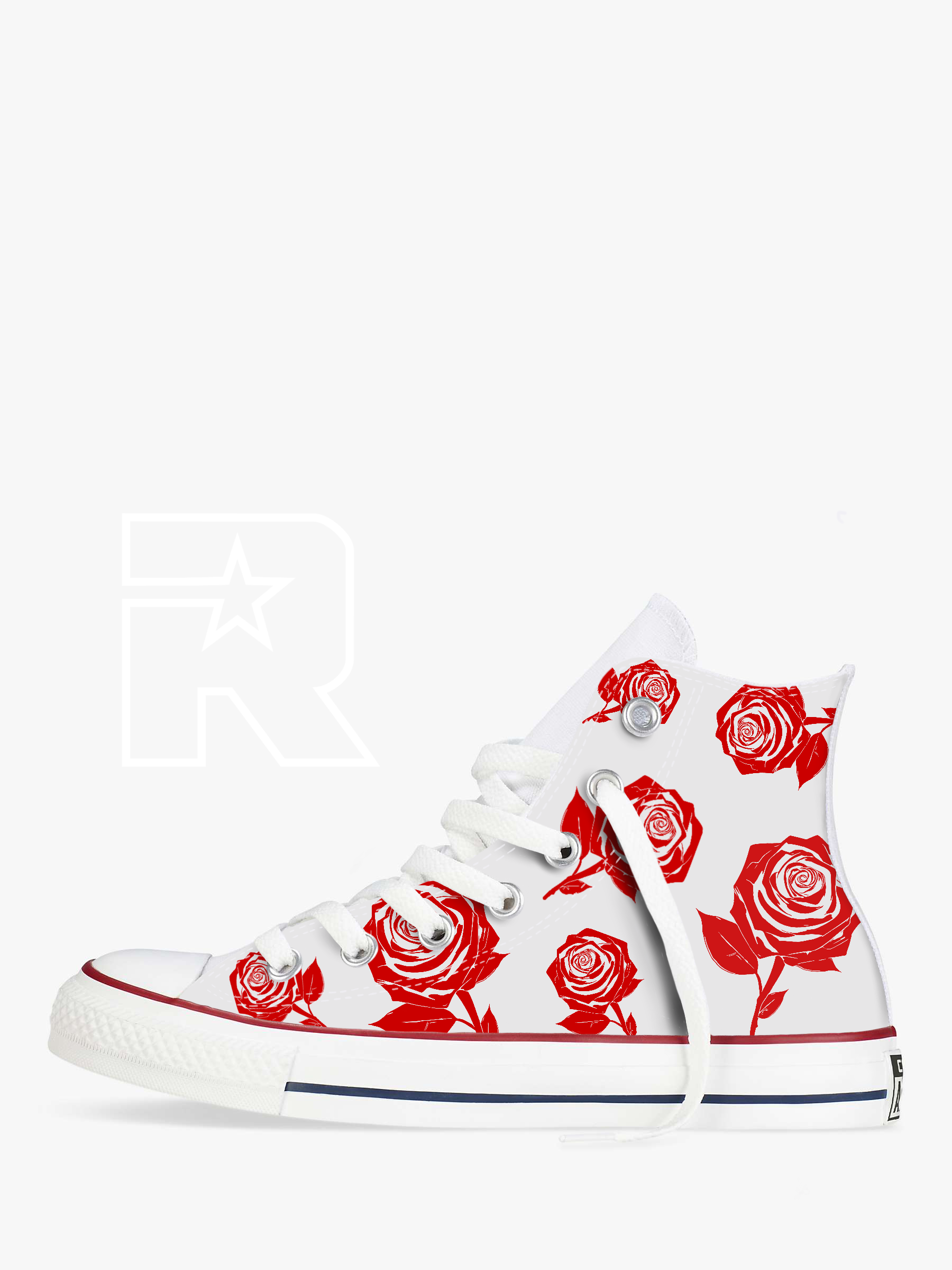Rosie Posie High Top Converse