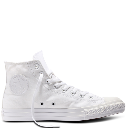 Custom Converse White Mono High Tops