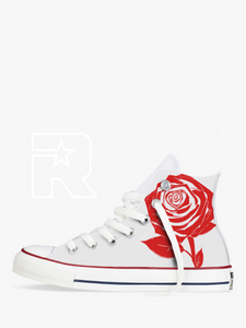 Single Rose High Top Converse