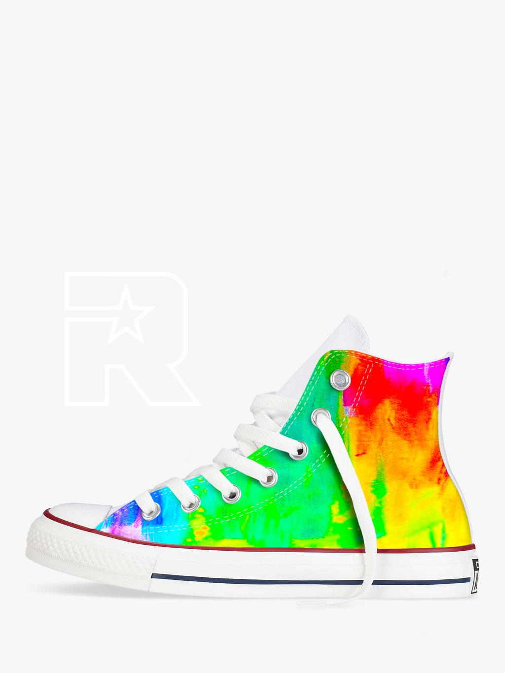 Neon Dreams High Top Converse