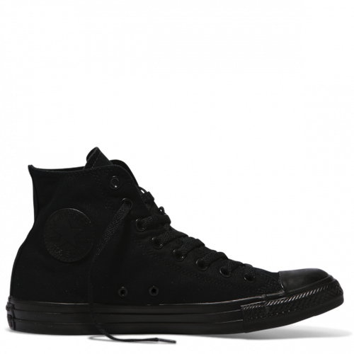 Custom Converse Black Mono High Tops