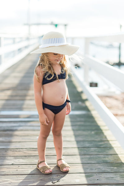 Stylish Wide Brimmed Protective Toddler Straw Sun Hat