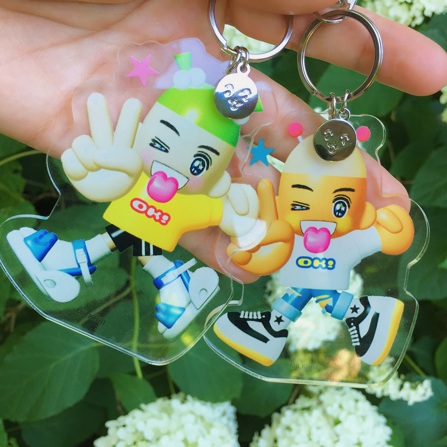 """GREEN HAIR GIRL"" KEYCHAIN"
