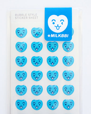 BLUE MASCOT BUBBLE STICKERS (FREE US SHIPPING)