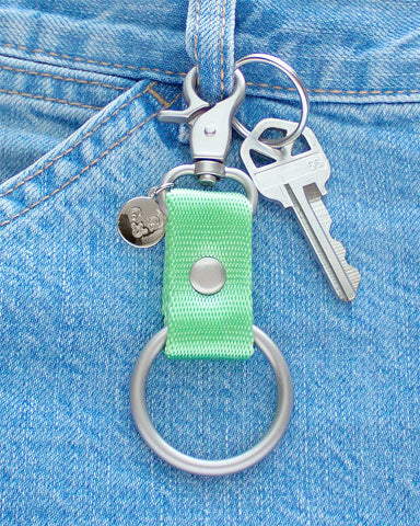 LIME BELT CLIP KEYCHAIN