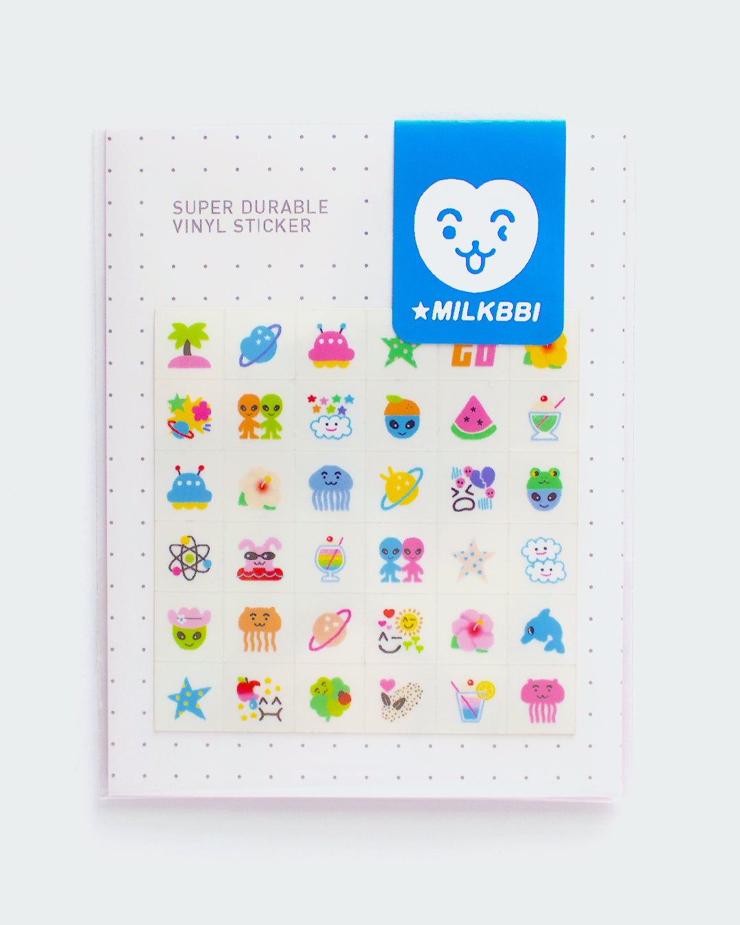 """INTERGALACTIC VACATION"" MINI VINYL STICKER SHEET (FREE US SHIPPING)"