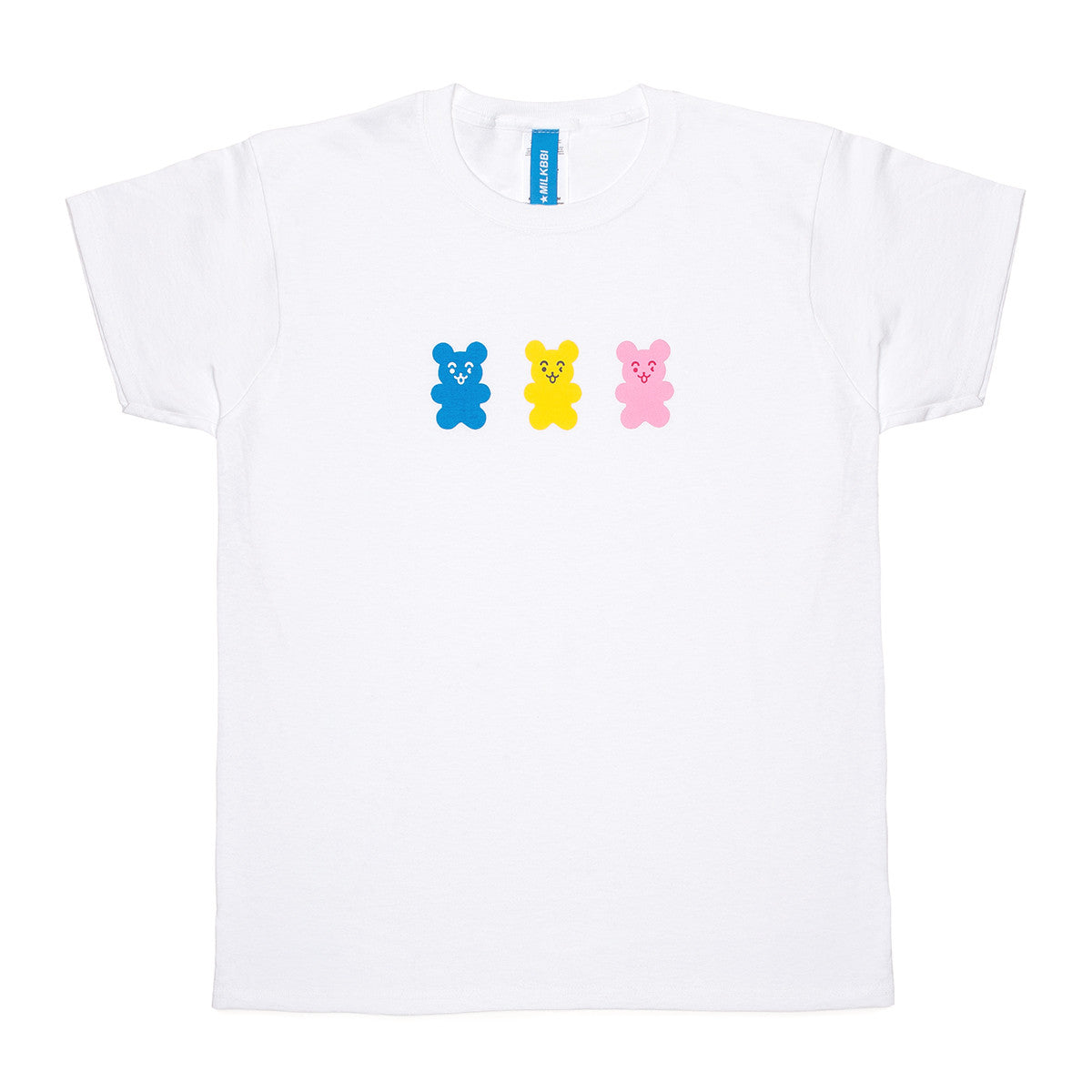 "WHITE ""BEAR MASCOT"" SHIRT (girls fit)"