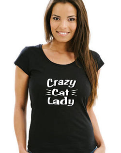"""Crazy Cat Lady"" Ladies' T-Shirt"