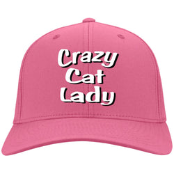 Crazy Cat Lady Port & Co. Twill Cap