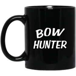 """Bow Hunter"" 11 oz. Black Mug"