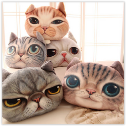 Cute Cat Cushion Pillow Cover