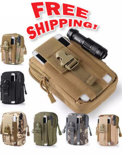 Tactical Molle Waist Belt Pack Phone Case