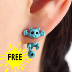 Cute Cat Stud Earrings Free Just Pay Shipping